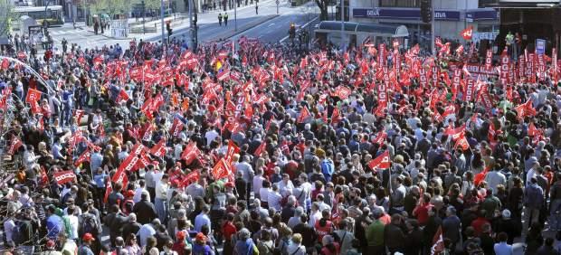 Huelga general en Pamplona