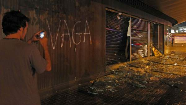 La resaca de la huelga, en Barcelona