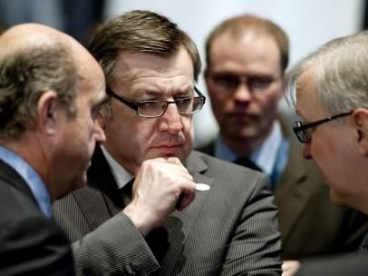 De Guindos con los ministros de Economía europeos