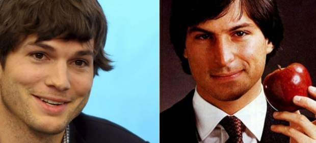Ashton Kutcher y Steve Jobs