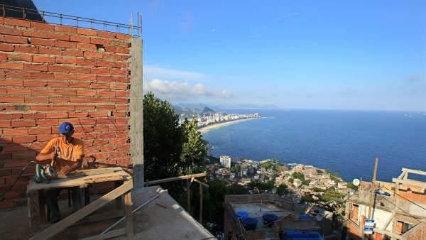 Las favelas de Río, al alza