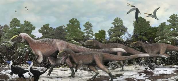 Hallan en China tres esqueletos del mayor dinosaurio que tuvo plumas: el 'Yutyrannus huali' 55217-620-282