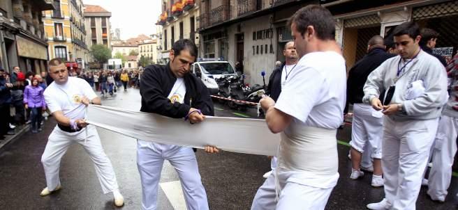 Costaleros en Madrid