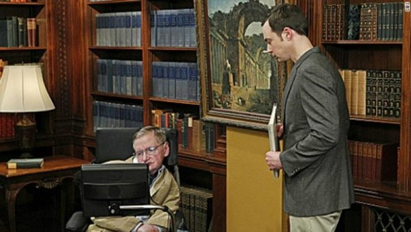 Hawking, en 'The Big Bang Theory'