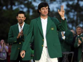 Bubba Watson, chaqueta verde en Augusta.