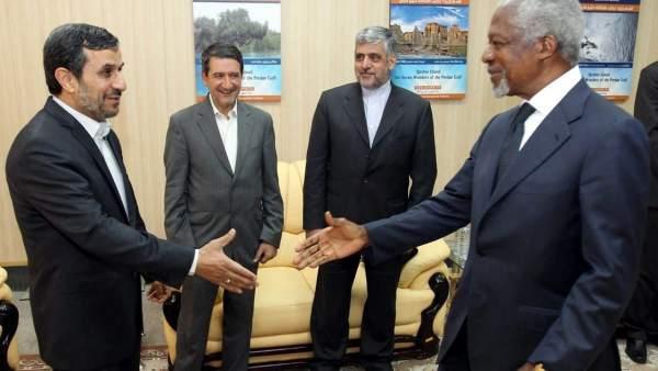 Reunión entre Annan y Ahmadineyad