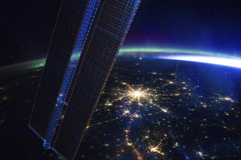 Moscú de noche desde el espacio