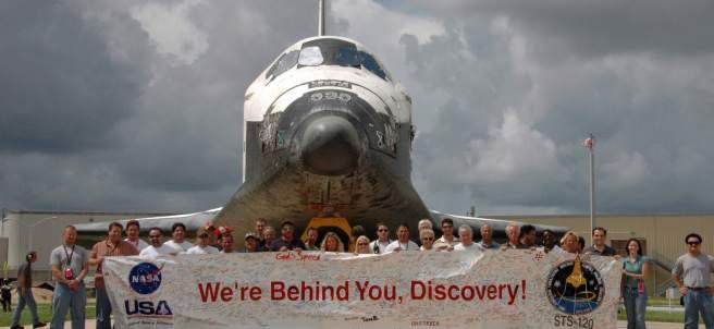 El transbordador Discovery