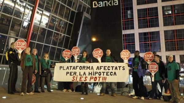 Los acampados en Bankia