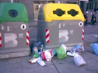 Contenedor de basura.