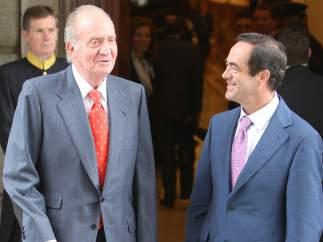 José Bono con el Rey Juan Carlos