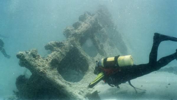 El vapor Valbanera hundido