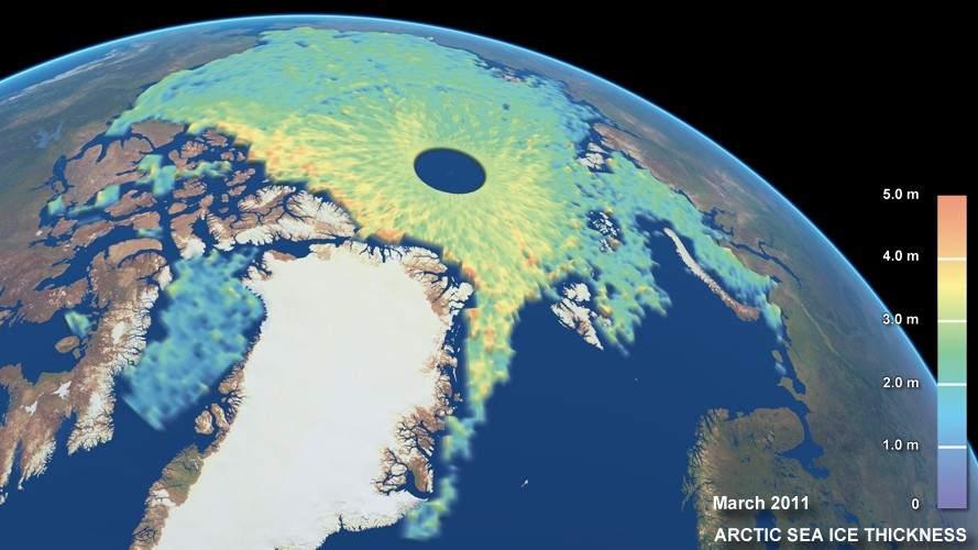 El hielo ártico se derrite y deja un futuro 'caliente'.- 57845-889-500