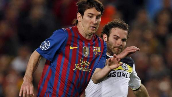 Messi y Mata en el Barça - Chelsea