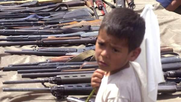 Entrega de armas en Colombia