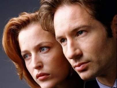 David Duchovny y Gillian Anderson