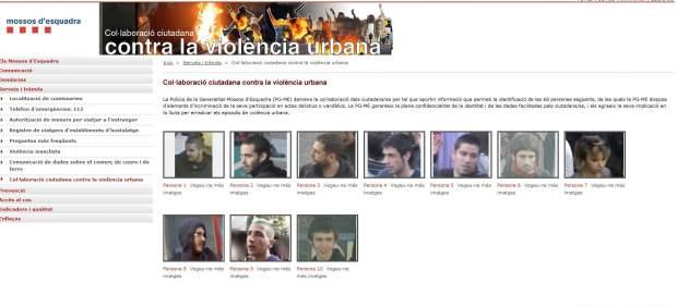 Web de los mossos