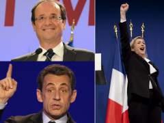 Hollande, Sarkozy y Le Pen