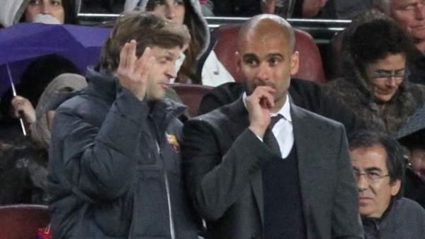Vilanova y Pep Guardiola