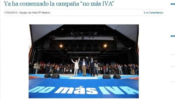 Campaña 'No más IVA'