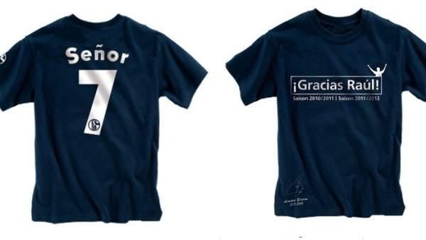 Camiseta de homenaje a Raúl f0a7991cf2c9e