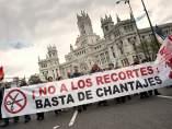 Contra los recortes, en Madrid