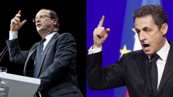 Sarkozy y Hollande
