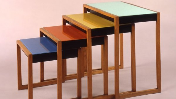 'Set of four stacking tables'