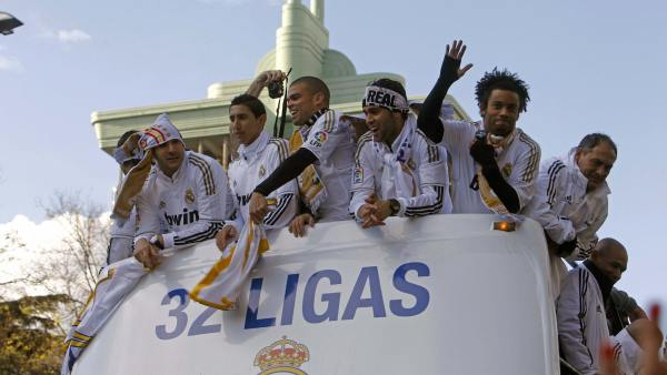 El Madrid celebra su triunfo