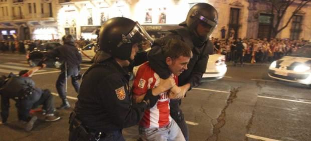 Hincha del Atlético detenido