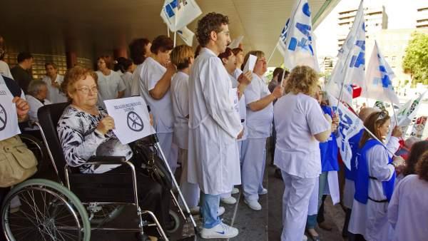 Protestas por los recortes en Sanidad