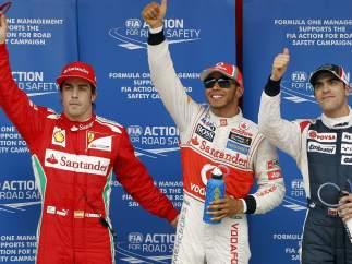 Podio Gran Premio España