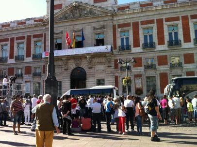 La Puerta del Sol se prepara para recibir al Real Madrid