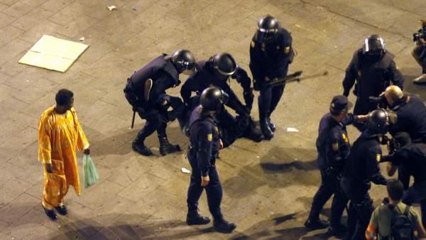Desalojo policial el 15-M
