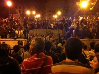 Asamblea nocturna del 15M en las Vistillas