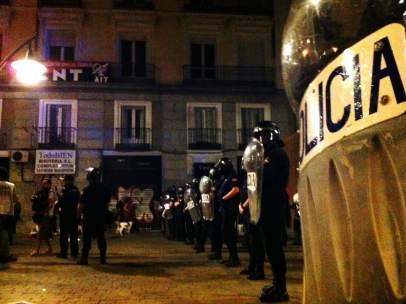 Cerco policial al 15M
