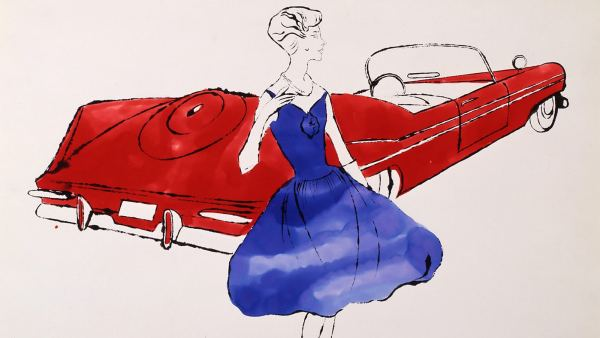 'Female Fashion Figure (with 1959 Plymouth Sport Fury Convertible)'