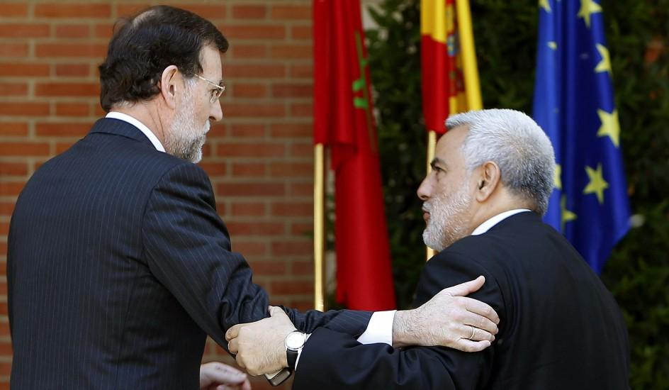Rajoy y Benkirán. El presidente del Gobierno, Mariano Rajoy, y su homólogo marroquí, Abdelilah Benkirán.