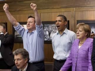 El G-8 viendo la final de Champions