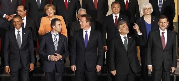 Foto de familia de la cumbre de la OTAN