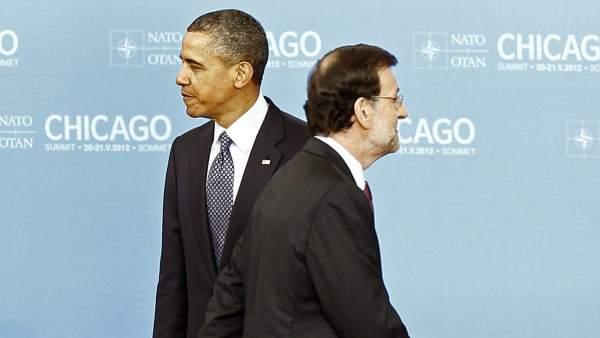 Mariano Rajoy y Barack Obama
