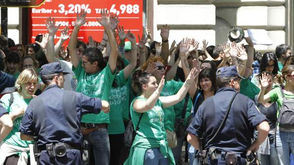 'Marea verde' de profesores