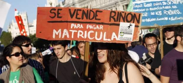 Manifestaci�n contra los recortes en Educaci�n