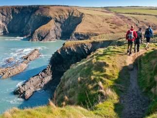 Excursionistas en Gales