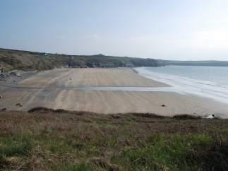 La playa de Whitesands Bay.