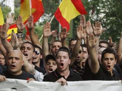 Manifestación de ultraderecha en Madrid