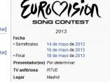 Eurovisión 2013 en Madrid, según Wikipedia