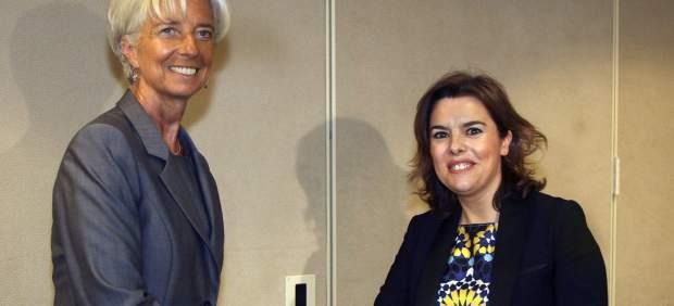 Christine Lagarde y Soraya Sáenz