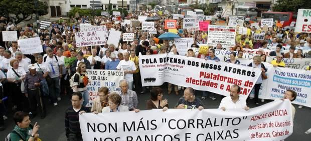 Marcha contra las participaciones preferentes