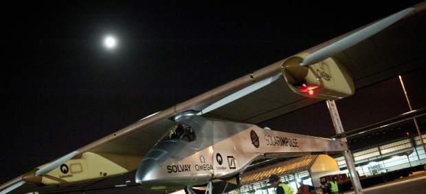Avión solar, en Barajas
